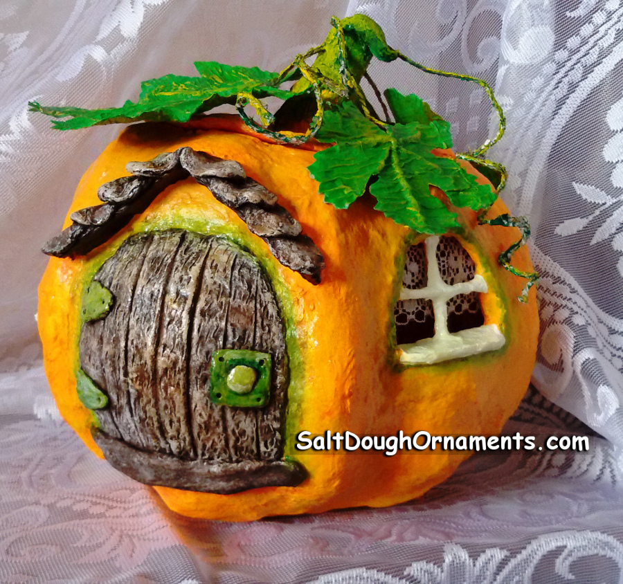 Fairy Pumpkin House - Papier mache