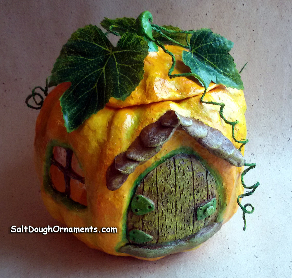 Another pumpkin but with fabric leaves
