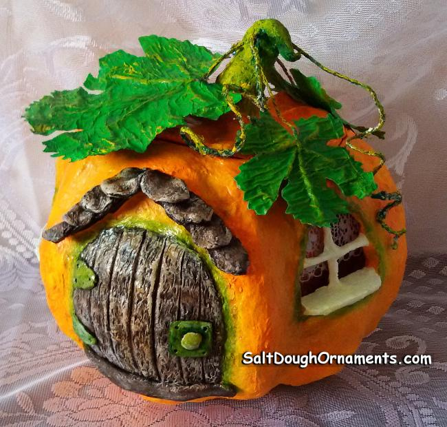 Fairy Pumpkin House - Papier mache
