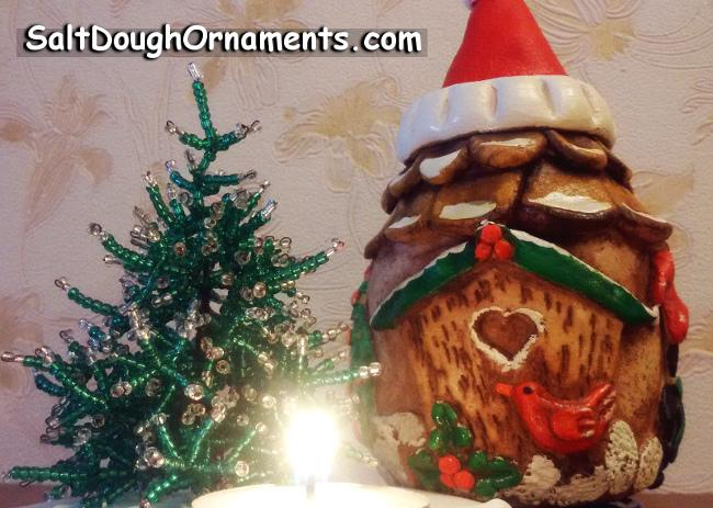 Salt Dough -  Christmas Fairy House