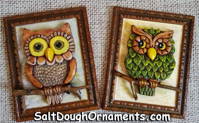 Salt Dough Owls